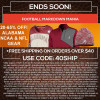 TideFansStore.com – 20-65% off Bama, NCAA & NFL Gear!