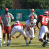 Football Starts Week with Two Practices