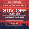Flash Sale – 30% off $50+ – Ends 5pm ET, Dec 5