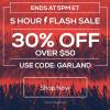 Flash Sale – 30% off $50+ – Ends 5pm ET, Dec 5