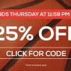 TideFansStore.com: 25% off – Thursday, October 12 until 1159pm ET!