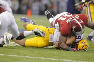 Upshaw crushes Jefferson / Photo by Todd Kirkland/Icon SMI