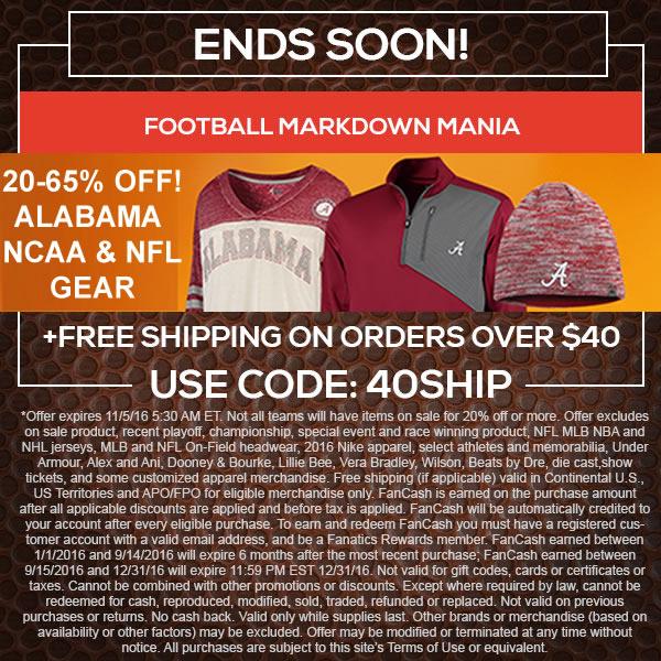 on sale 08510 1f84e TideFansStore.com – 20-65% off Bama, NCAA & NFL Gear ...