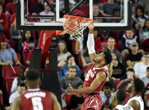 Jan 25, 2017; Athens, GA, USA; Alabama Crimson Tide forward Braxton Key (25) dunks the ball against the Georgia Bulldogs during the first half at Stegeman Coliseum. Mandatory Credit: Adam Hagy-USA TODAY Sports