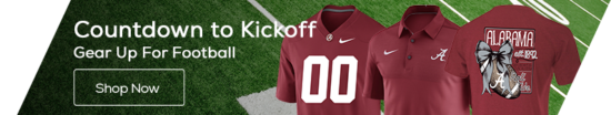 Countdown to Kickoff 2017! Alabama Crimson Tide Fanatics Gear