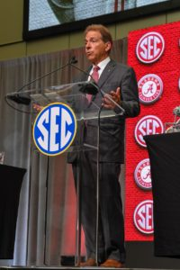 Alabama Coach Nick Saban. Photo Credit: Dale Zanine-USA TODAY Sports